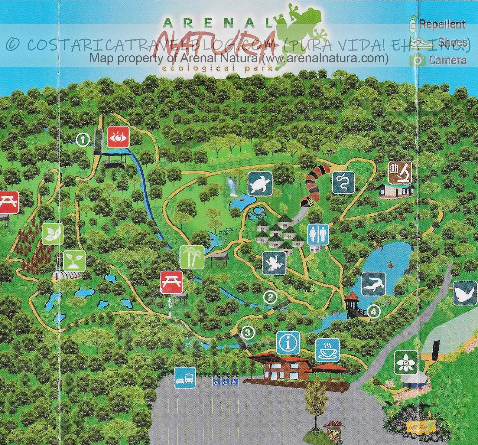 Arenal Natura Park Map