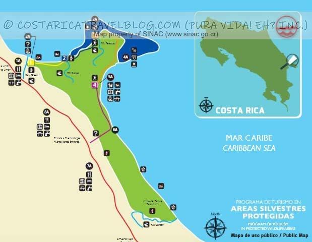 Cahuita National Park Trail Map