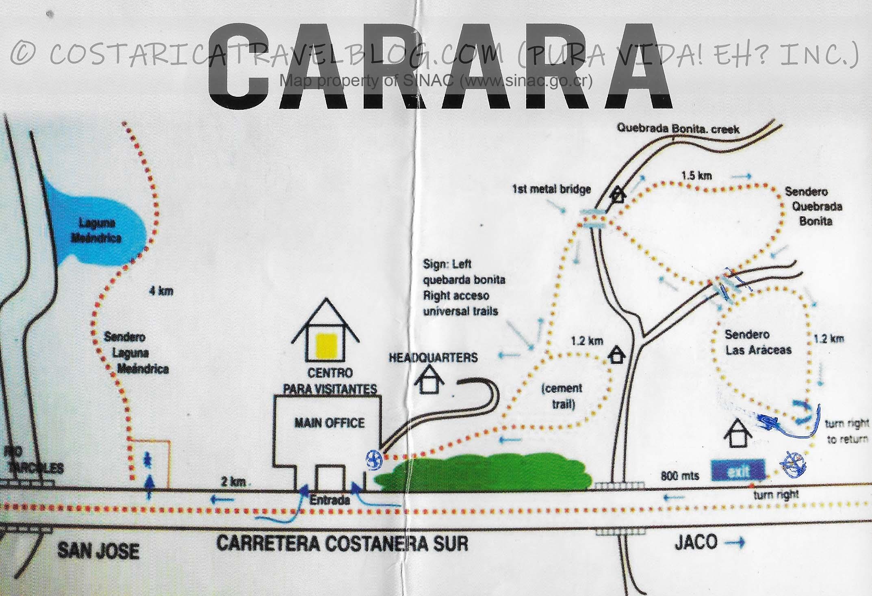 Carara National Park Trail Map