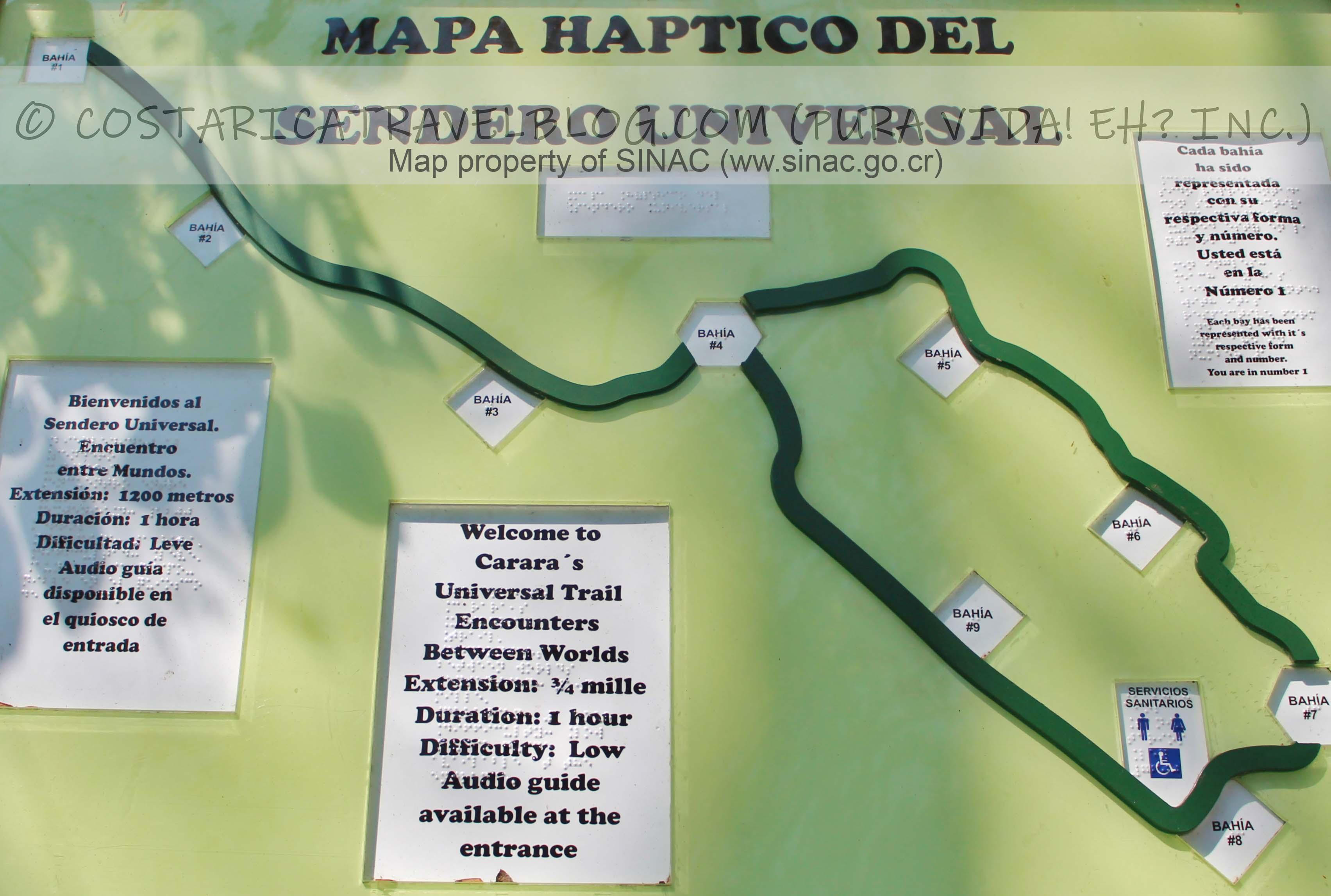 Carara National Park Trail Map (Universal Trail)