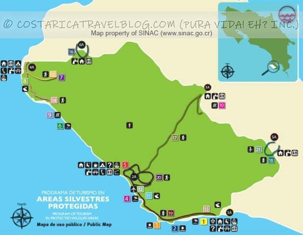Corcovado National Park Trail Map