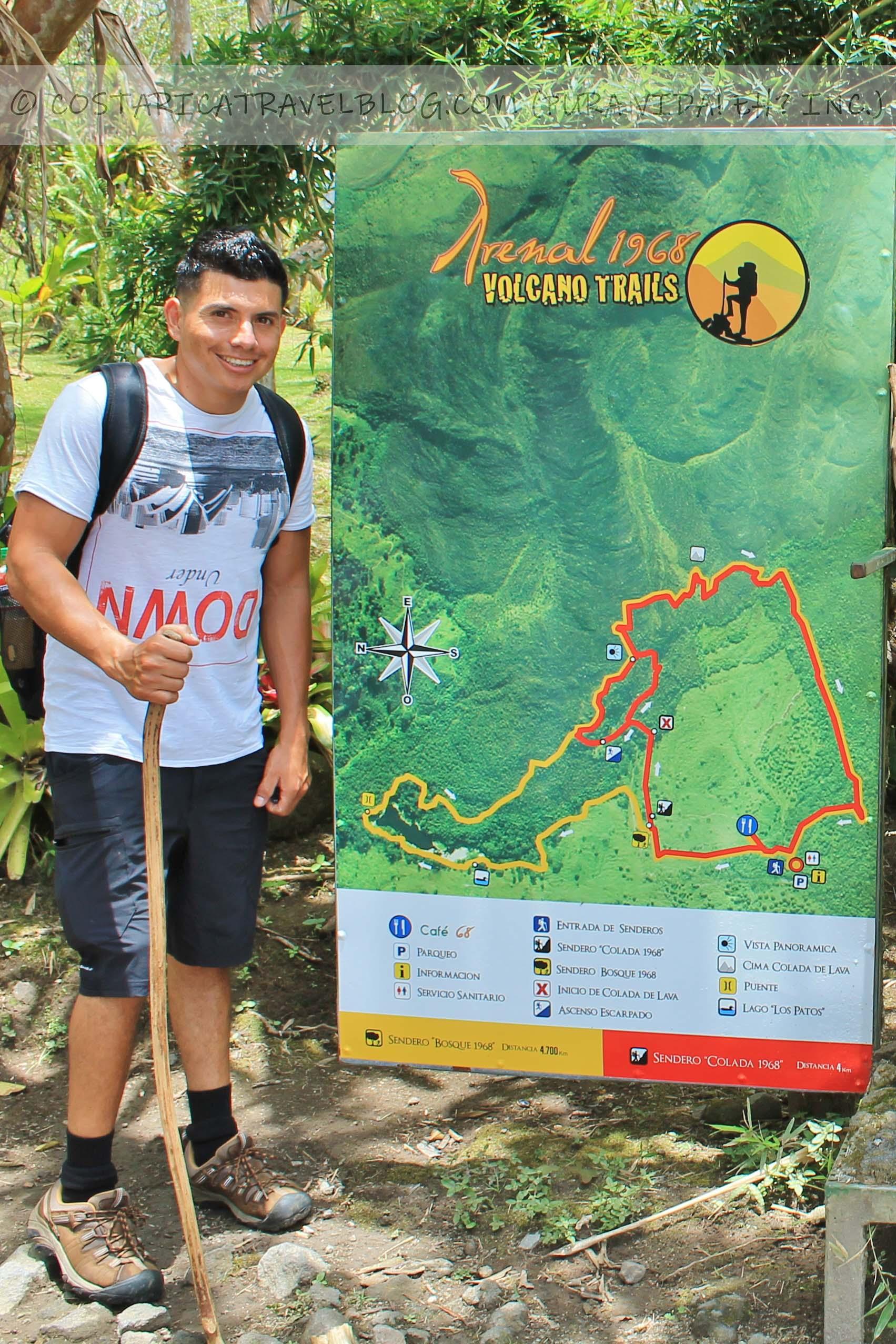 Costa Rica trail maps