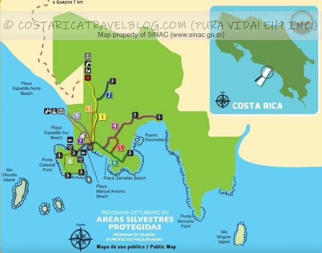 Manuel Antonio National Park Trail Map
