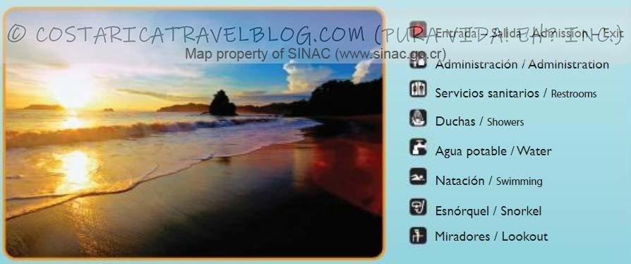 Manuel Antonio National Park Trail Map Key #2