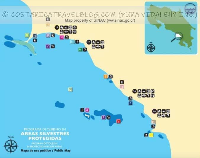Marino Ballena National Park Trail Map