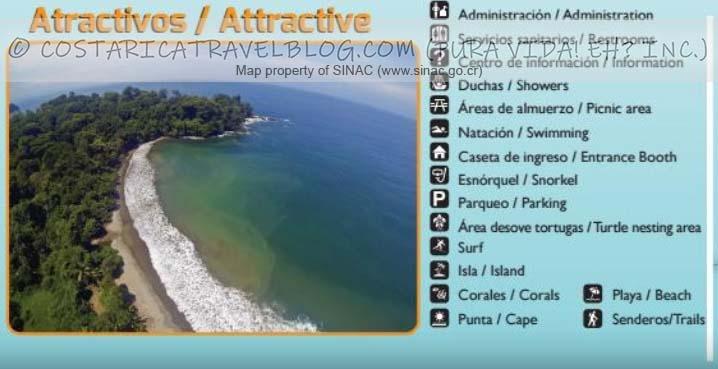 Marino Ballena National Park Trail Map Key #2
