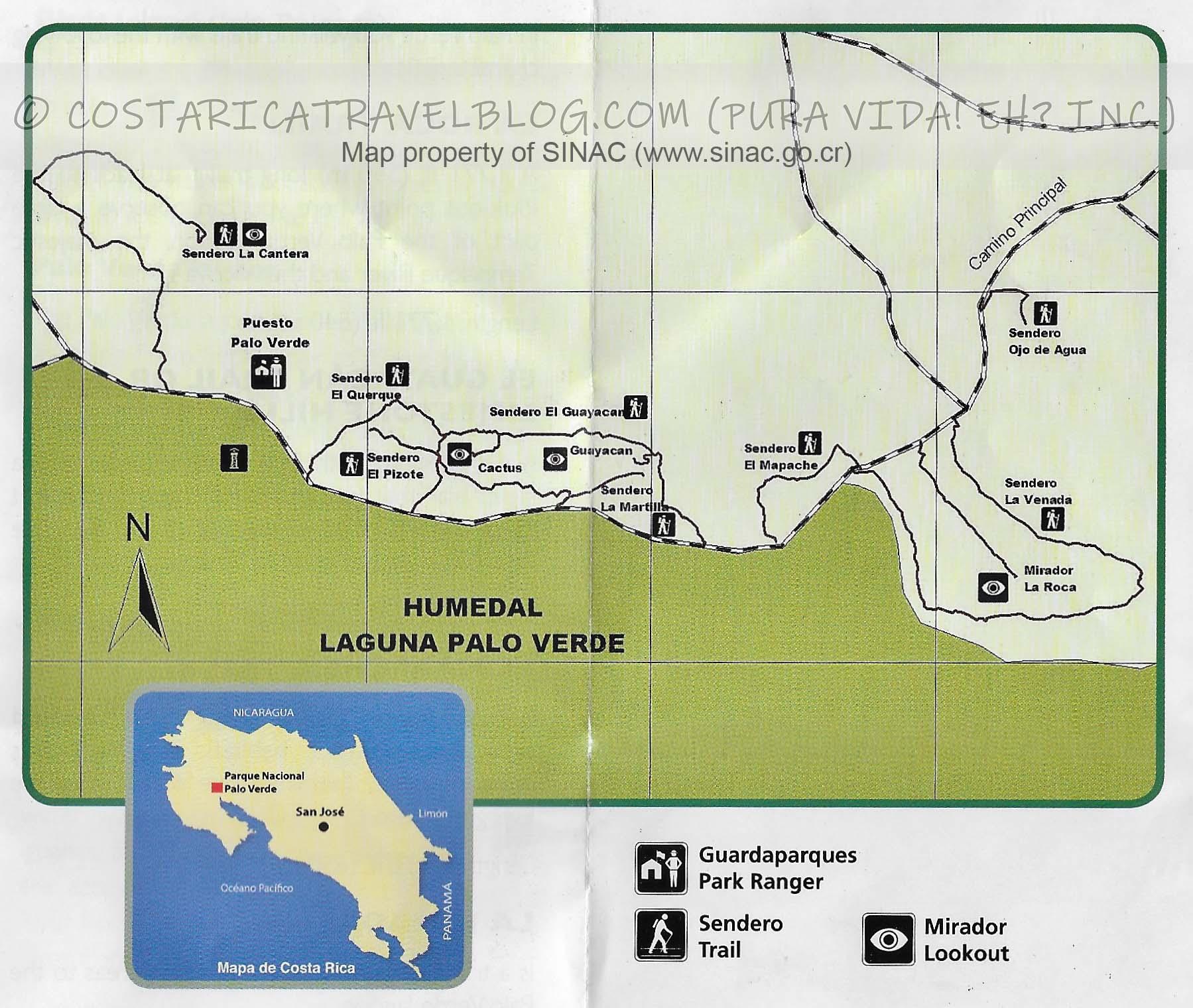 Palo Verde National Park Map