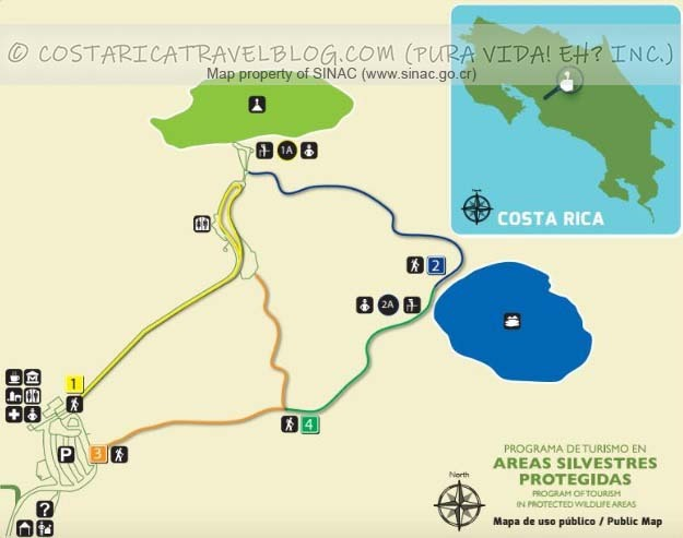 Poas Volcano National Park Trail Map
