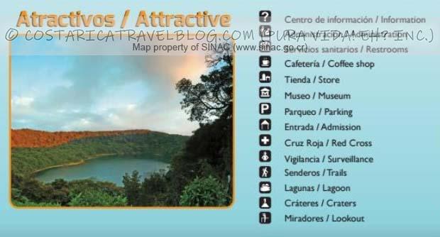 Poas Volcano National Park Trail Map Key #2