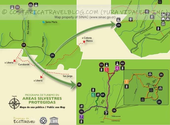 Rincon de la Vieja National Park Trail Map