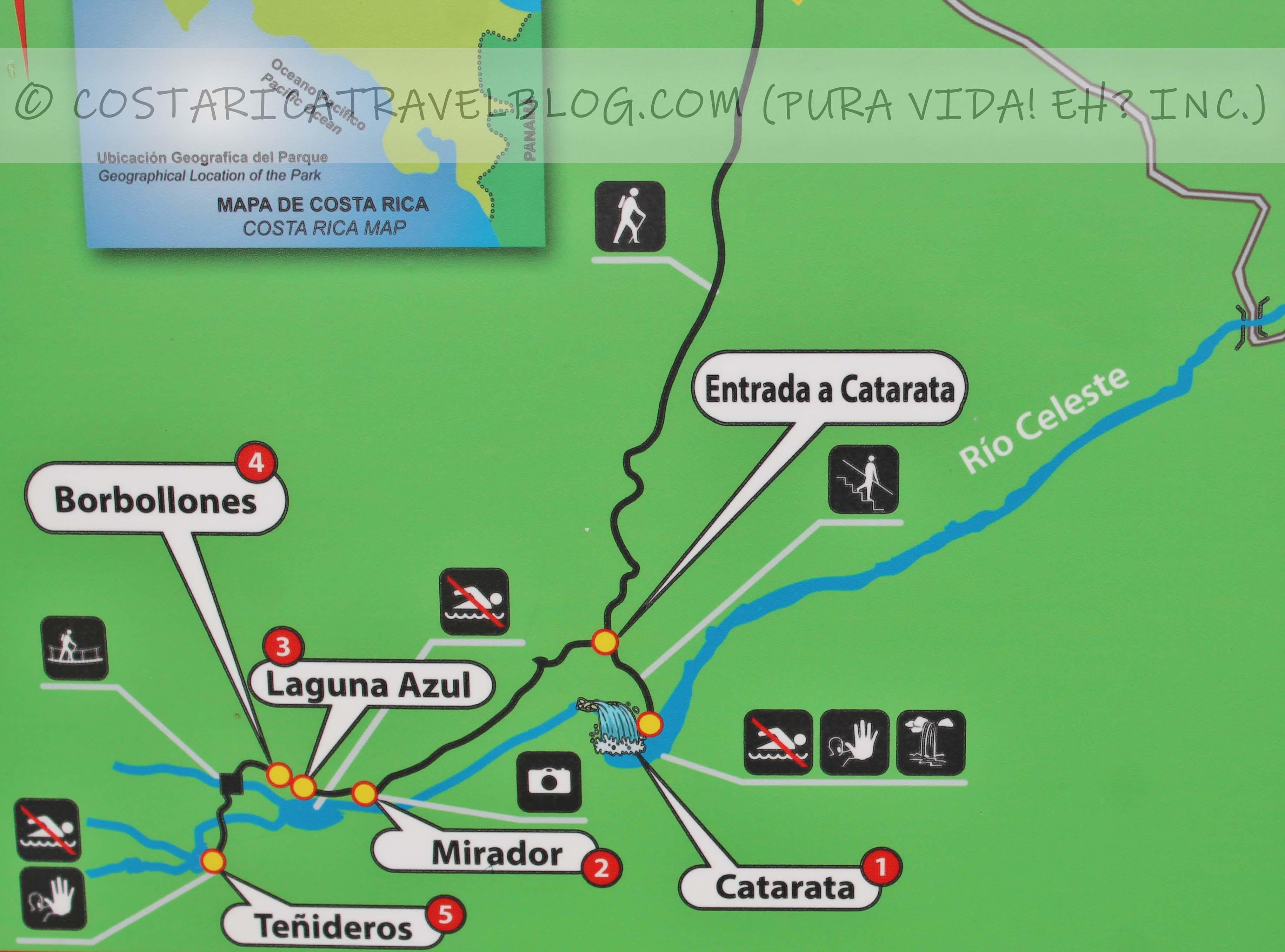 Tenorio Volcano National Park Trail Map