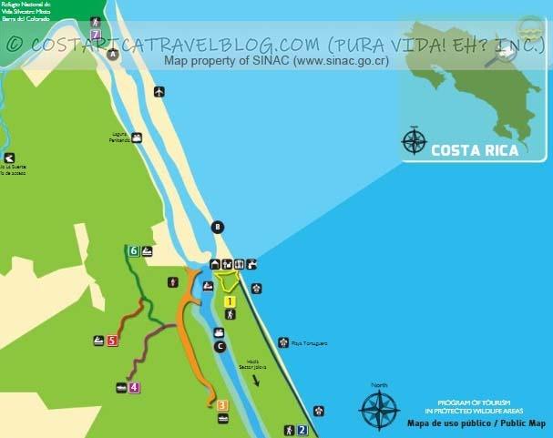 Tortuguero National Park Trail Map