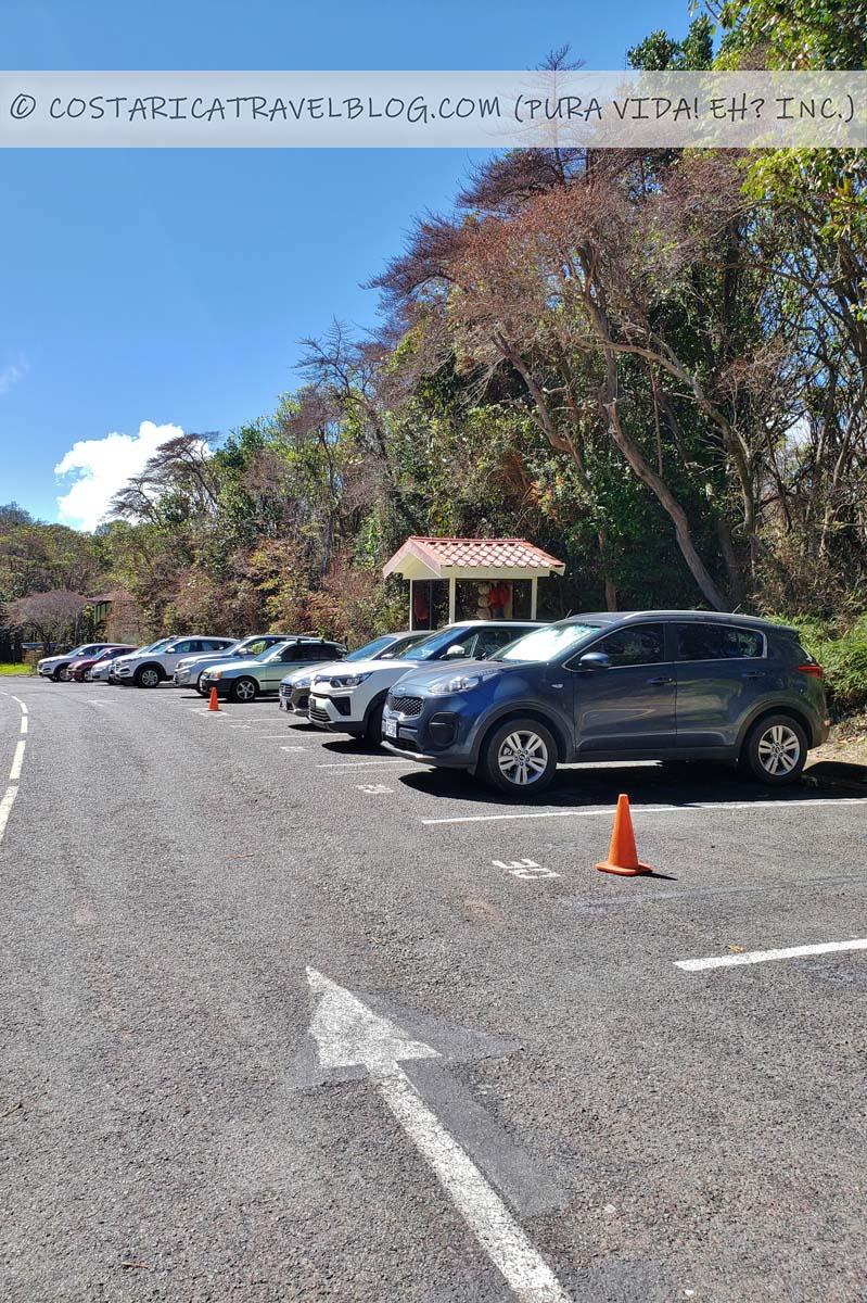 Poas Volcano National Park parking